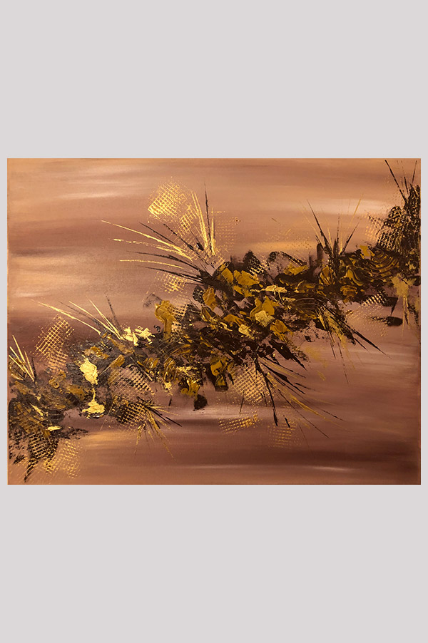 Original contemporary modern abstract painting on stretched canvas in earth tone colors - Desert Storm